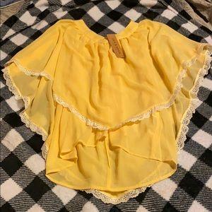 Ladies yellow blouse